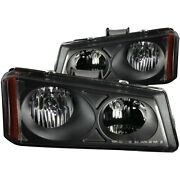 111009 Anzo Headlight Lamp Driver And Passenger Side New For Chevy Avalanche Lh Rh