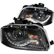 121322 Anzo Headlight Lamp Driver And Passenger Side New Lh Rh For Audi A3 Quattro