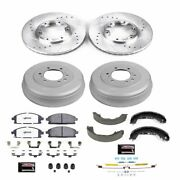K15116dk-36 Powerstop Brake Disc And Drum Kits 4-wheel Set Front And Rear New