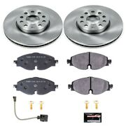 Tdsk7080 Powerstop Brake Disc And Pad Kits 2-wheel Set Front New For Audi A3