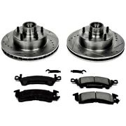 K2580 Powerstop 2-wheel Set Brake Disc And Pad Kits Front New For Chevy Olds