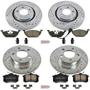 K840 Powerstop Brake Disc And Pad Kits 4-wheel Set Front And Rear New For Vw Sedan