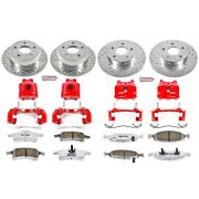 Kc2148-26 Powerstop Brake Disc And Caliper Kits 4-wheel Set Front And Rear