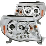 121281 Anzo Headlight Lamp Driver And Passenger Side New Lh Rh For Toyota Tacoma