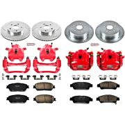 Kc5476 Powerstop Brake Disc And Caliper Kits 4-wheel Set Front And Rear For Sienna