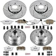 K2825-26 Powerstop Brake Disc And Pad Kits 4-wheel Set Front And Rear New For A4