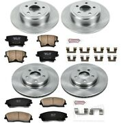 Koe1715 Powerstop 4-wheel Set Brake Disc And Pad Kits Front And Rear New For 300
