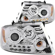 111203 Anzo Headlight Lamp Driver And Passenger Side New For F150 Truck Lh Rh Ford