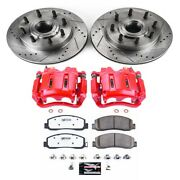 Kc5588-36 Powerstop 2-wheel Set Brake Disc And Caliper Kits Front For F250 Truck