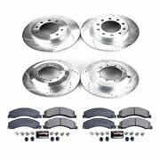 K5568 Powerstop 4-wheel Set Brake Disc And Pad Kits Front And Rear New For 4500