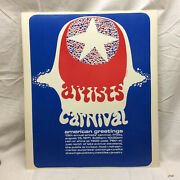 Vintage American Greetings 1971 Artists Carnival Poster Cleveland Ohio