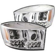 111315 Anzo Headlight Lamp Driver And Passenger Side New For Ram Truck Lh Rh 1500