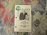 1968-69 Oakland Oaks Media Guide Yearbook Rick Barry Larry Brown 1969 Aba Champ