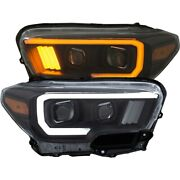 111396 Anzo Headlight Lamp Driver And Passenger Side New Lh Rh For Toyota Tacoma