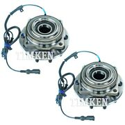 Set-tmsp940202 Timken Set Of 2 Wheel Hubs Front Driver And Passenger Side New Pair