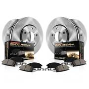 Koe5744 Powerstop 4-wheel Set Brake Disc And Pad Kits Front And Rear New