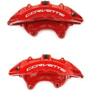 Set-ac1722710-f Ac Delco 2-wheel Set Brake Calipers Front Driver And Passenger New