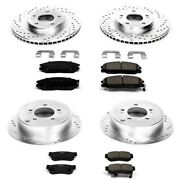K4446 Powerstop 4-wheel Set Brake Disc And Pad Kits Front And Rear New For Hyundai