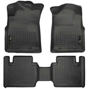 Set-h2113941 Husky Liners Floor Mats Front New Black For Toyota Tacoma 2012-2015