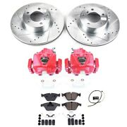 Kc7026 Powerstop 2-wheel Set Brake Disc And Caliper Kits Front New For Bmw X1