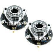 Set-tmha590206 Timken Wheel Hubs Set Of 2 Front Driver And Passenger Side New Pair