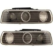 111189 Anzo Headlight Lamp Driver And Passenger Side New For Chevy Suburban Lh Rh
