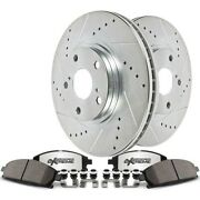 K7280-26 Powerstop 4-wheel Set Brake Disc And Pad Kits Front And Rear New For Vw