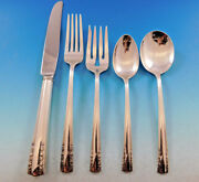 Chapel Bells By Alvin Sterling Silver Flatware Set For 8 Service 41 Pieces