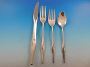 Still Mood By Wallace Sterling Silver Flatware Service For 6 Set 27 Pieces