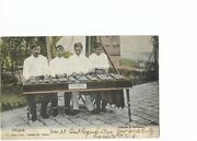 Rppc Extremely Rare Mexican Men Playing Xylophone San Diego Ca, 1908