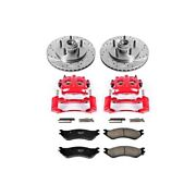 Kc1916 Powerstop Brake Disc And Caliper Kits 2-wheel Set Front For F150 Truck