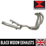 Zzr1100 Zzr 1100 Zx-11 Zx11 4-2 Exhaust Downpipes And Link Pipes - No Silencers
