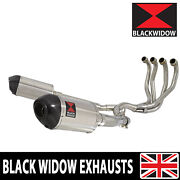 Zzr 1100 Zx-11 Zx11 4-2 Exhaust System Oval Stainless + Carbon Silencers 200st