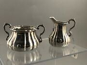 Victorian Silver Suger And Cream London 1856