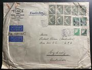 1938 Cologne Germany Oversized Airmail Commercial Cover To Sydney Australia