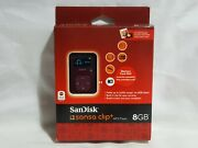 New Sandisk Sansa Clip Plus 8gb Mp3 Player Red Qvc Package 1000 Slotradio Oldies