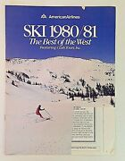 Vintage American Airlines Ski 1980/81 Best Of The West Cush Tours Travel Guide
