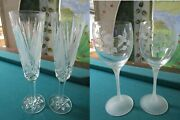 Shannon Suite Tyrone Crystal 2 Champagne Flutes 2 Hummingbird Avon Goblets Pick1