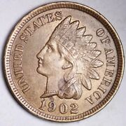 1902 Indian Head Small Cent Choice Unc Free Shipping E165 T