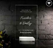 Personalised And039welcome To The Weddingand039 Led Sign A3 42cms X 29.7 Cms