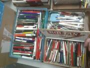 Lot Of Approx. 500 Assorted Vintage Writing Pens Many Advertising May Not Work