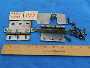 Wurlitzer 1100 Cabinet Front Door Hinges 49549 And 49462 With Guard And Hardware
