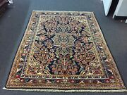 On Sale S.antique Hand Knotted Vintage Mahall Area Rug Geometric 5'1x6'7,3234