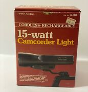 Vintage Realistic 15 Watt Camcorder Light And Battery Pack