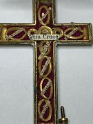 Anddagger Rare Brass Multiple Saints 15 Relic Theca Double Crucifix Worn By Priest 3 Anddagger