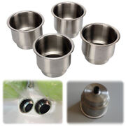 4pcs Stainless Steel Cup Drink Holders For Marine Boat Car Truck Camper Rv Bravo