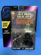 Kenner 1996 Star Wars Shadows Of The Empire Xizor And Darth Vader W Comic S
