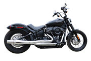 Thunderheader X-series 2 - 1 Chrome Low Exhaust System Pipes Harley Softail 18+