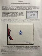 1931 Malta Rn Seaplane Station Royal Air Force Card Cover Flying Boat