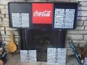 L@@k 4ft Coca-cola Menu Board Sign W/4 Sets Of Letters,numbers And Symbols